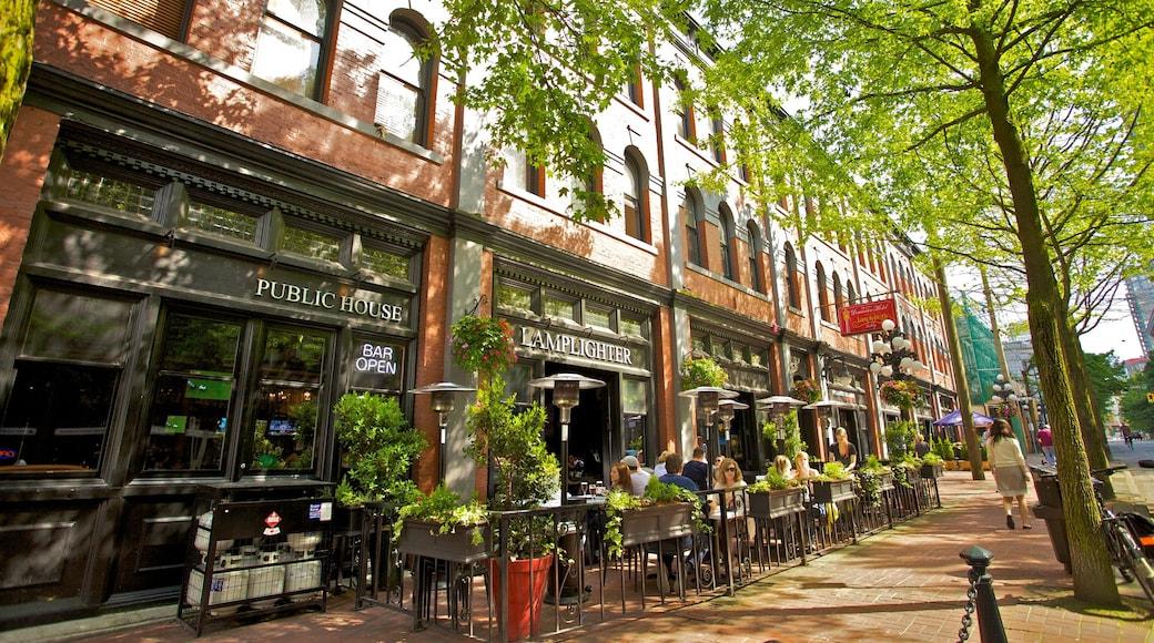 Gastown mostrando una ciudad, imágenes de calles y escenas de café