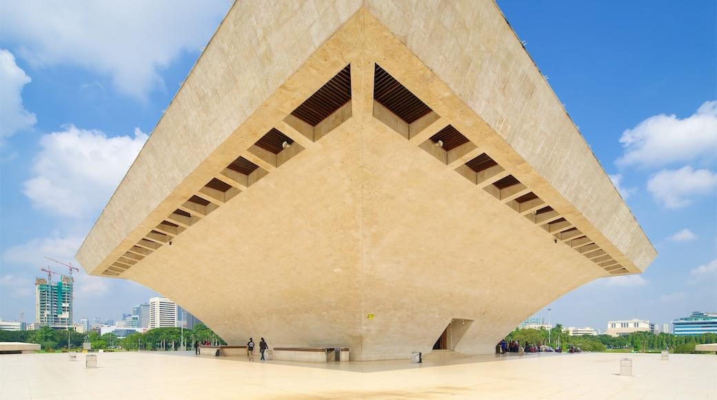National Monument showing a square or plaza and modern architecture