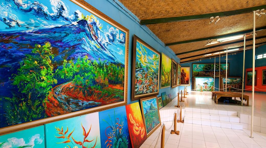 Affandi Museum featuring art and interior views