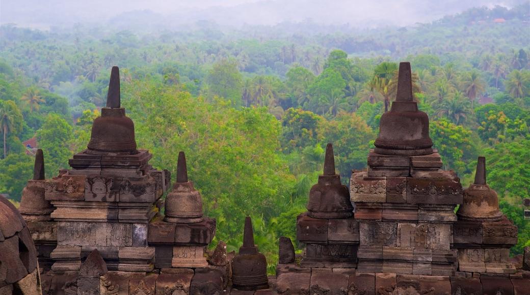 Chùa cổ Borobudur trong đó bao gồm di sản, cảnh thanh bình và phong cảnh