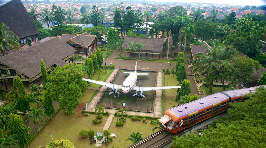 Taman Mini Indonesia Indah featuring landscape views and railway items