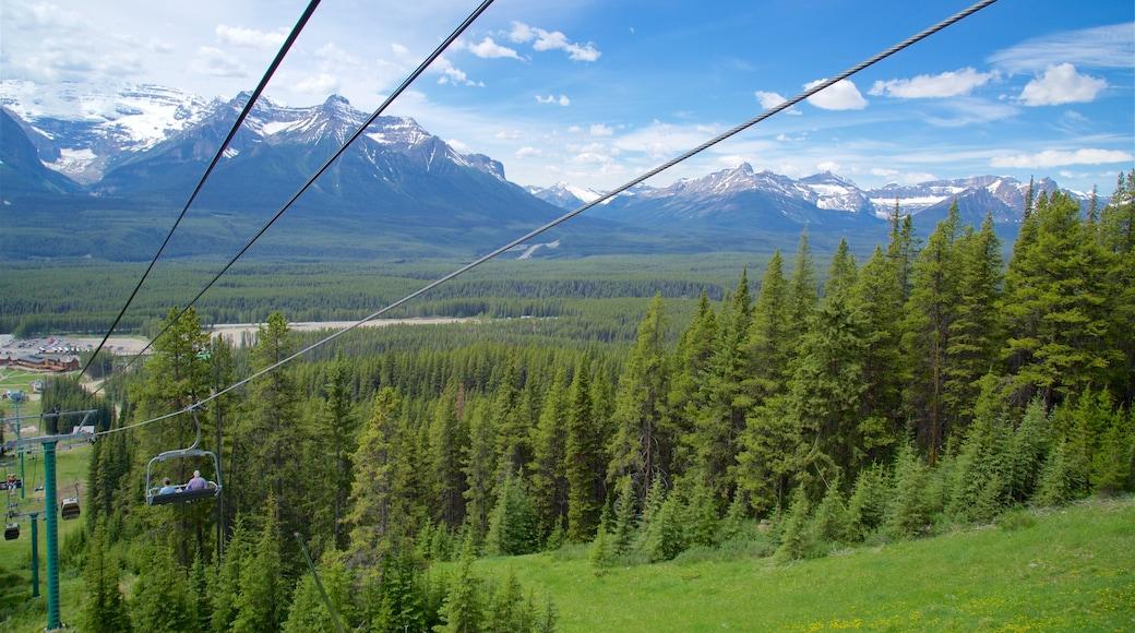 Gondeln von Lake Louise welches beinhaltet Berge, Gondel und Landschaften