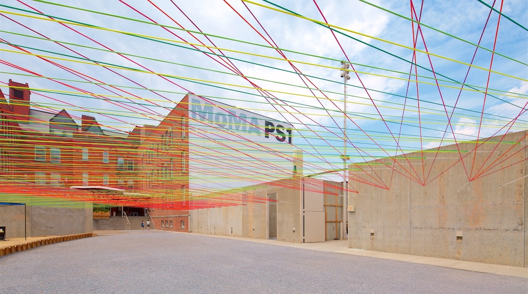 MoMA PS1 which includes outdoor art