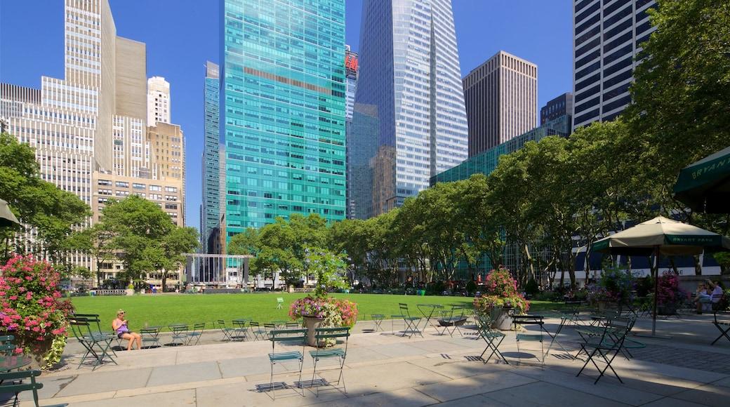 Bryant Park caratteristiche di casa a torre, città e parco