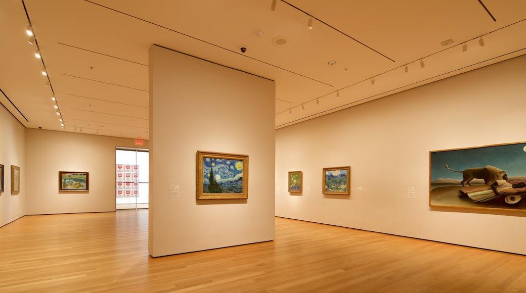 현대 미술관 을 보여주는 예술 과 실내 전경