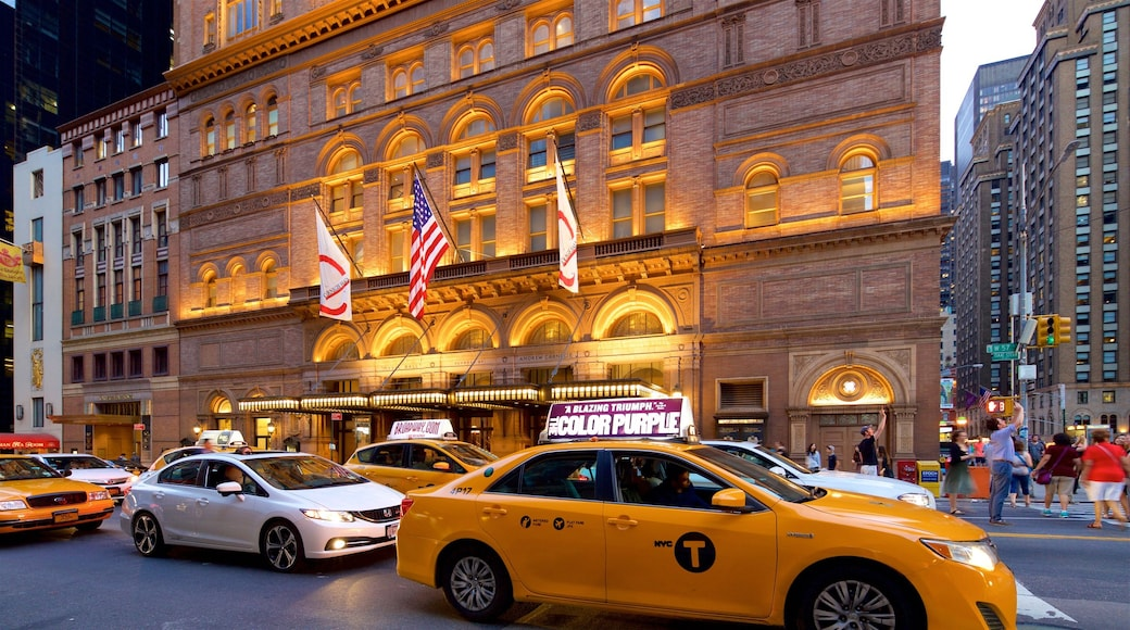 Carnegie Hall ofreciendo elementos patrimoniales y una ciudad