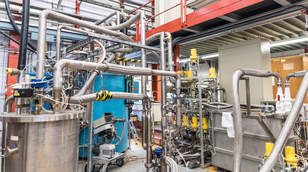 CERN ofreciendo industria y vistas de interior