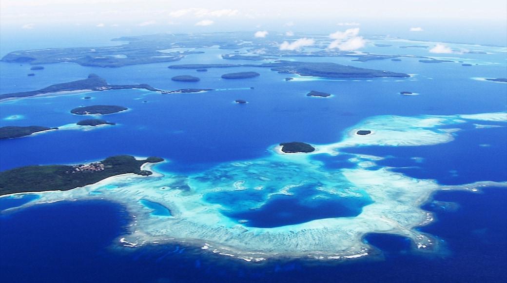 ตองกา แสดง ทิวทัศน์เขตร้อน และ รูปเกาะ