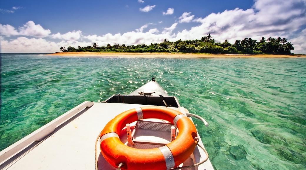 ตองกา แสดง รูปเกาะ, ทิวทัศน์เขตร้อน และ การพายเรือ