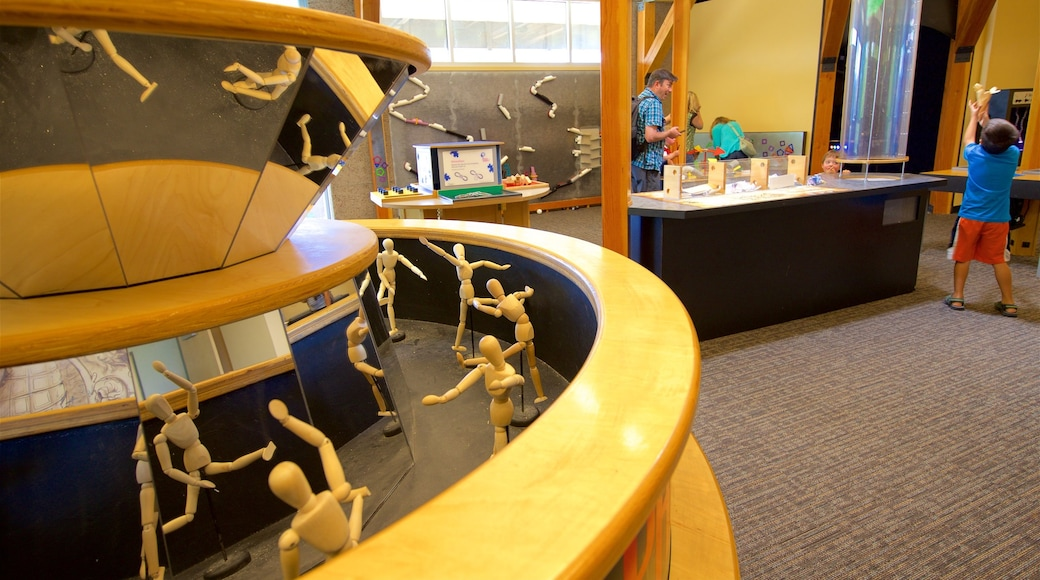 Terry Lee Wells Nevada Discovery Museum featuring interior views as well as an individual child