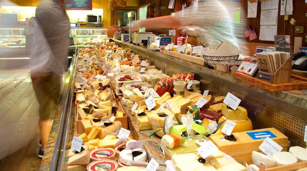V. Sattui showing interior views and food