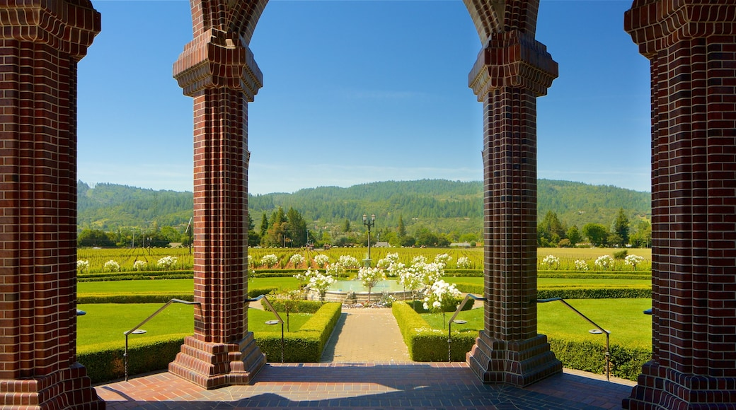 Ledson Winery and Vineyards which includes heritage elements, tranquil scenes and flowers