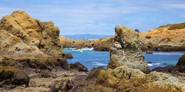 Glass Beach featuring rugged coastline