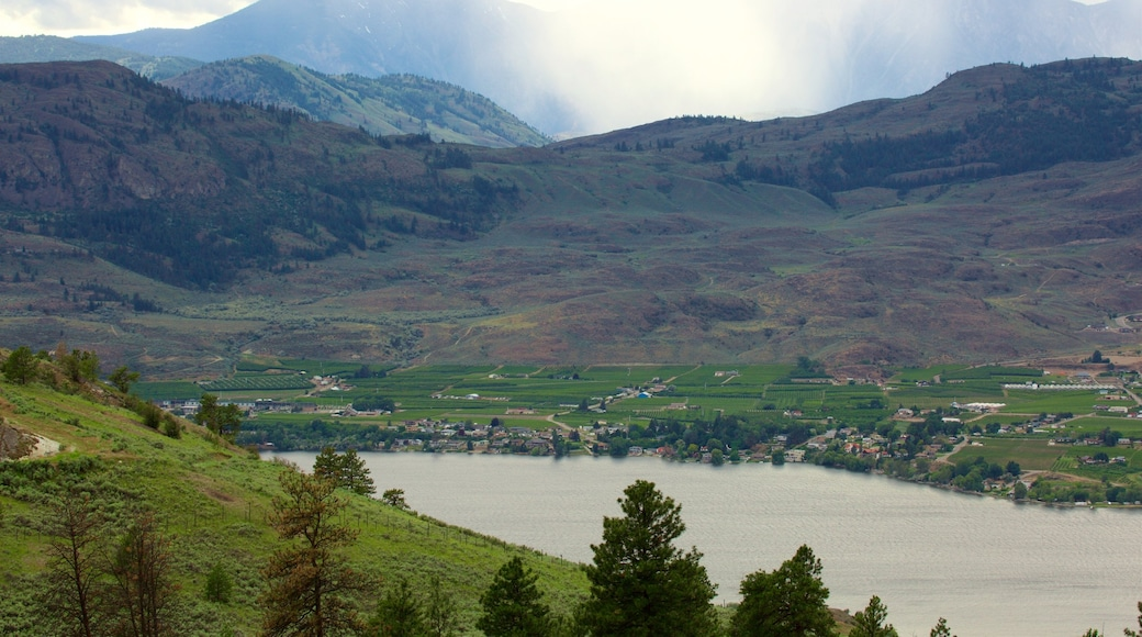 Osoyoos which includes farmland, a lake or waterhole and tranquil scenes