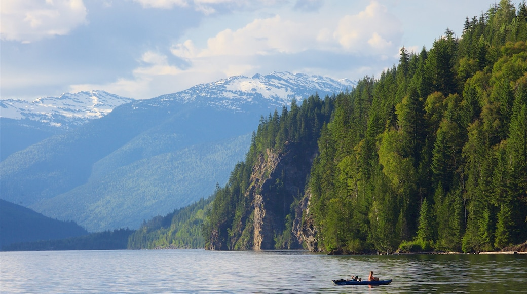 Revelstoke featuring mountains, a river or creek and tranquil scenes