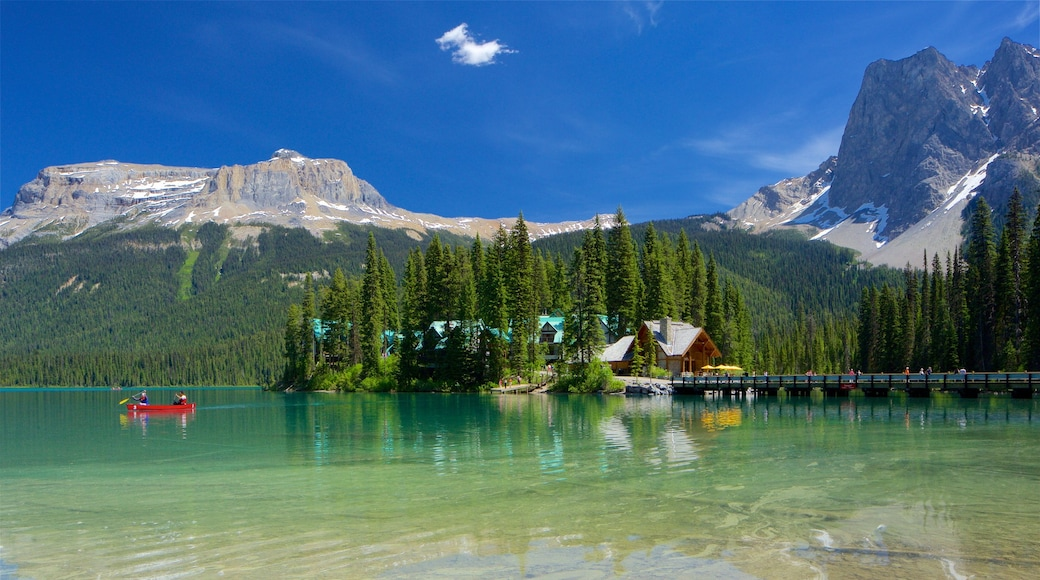 Yoho National Park featuring mountains, tranquil scenes and a lake or waterhole