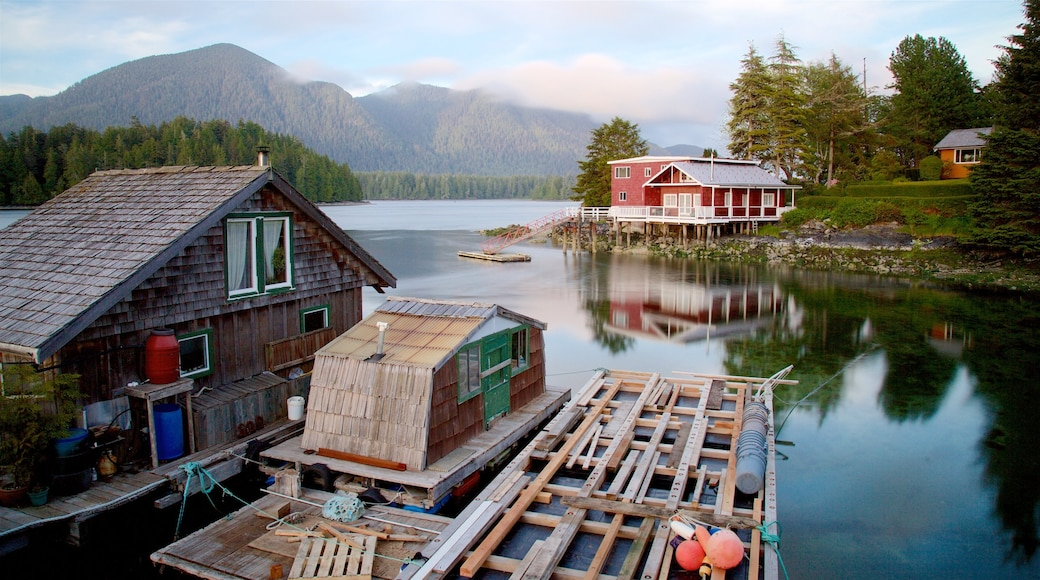 Tofino showing tranquil scenes and a lake or waterhole