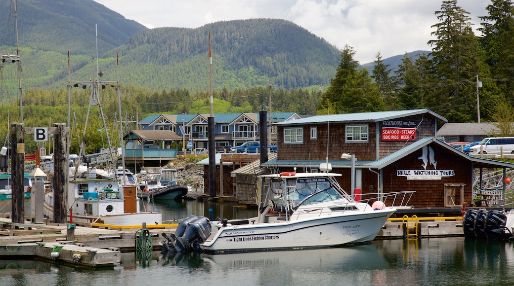 Ucluelet which includes tranquil scenes and a bay or harbour