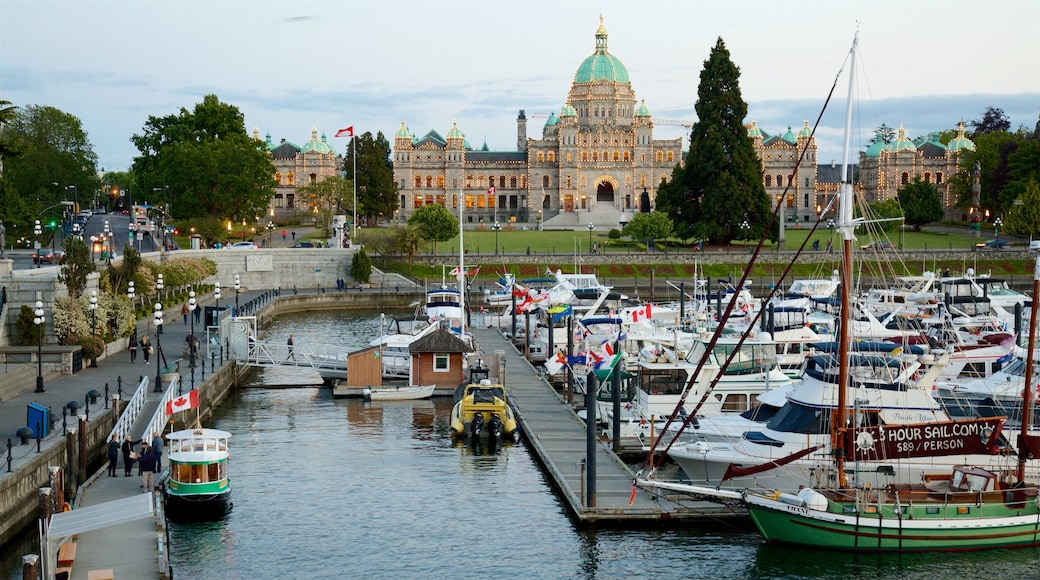 Victoria Harbour featuring a bay or harbor and heritage architecture