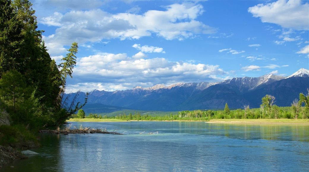 Skookumchuck featuring a lake or waterhole, mountains and tranquil scenes