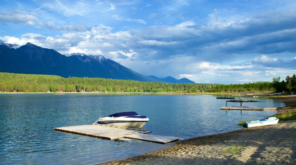 Skookumchuck which includes tranquil scenes, a lake or waterhole and mountains