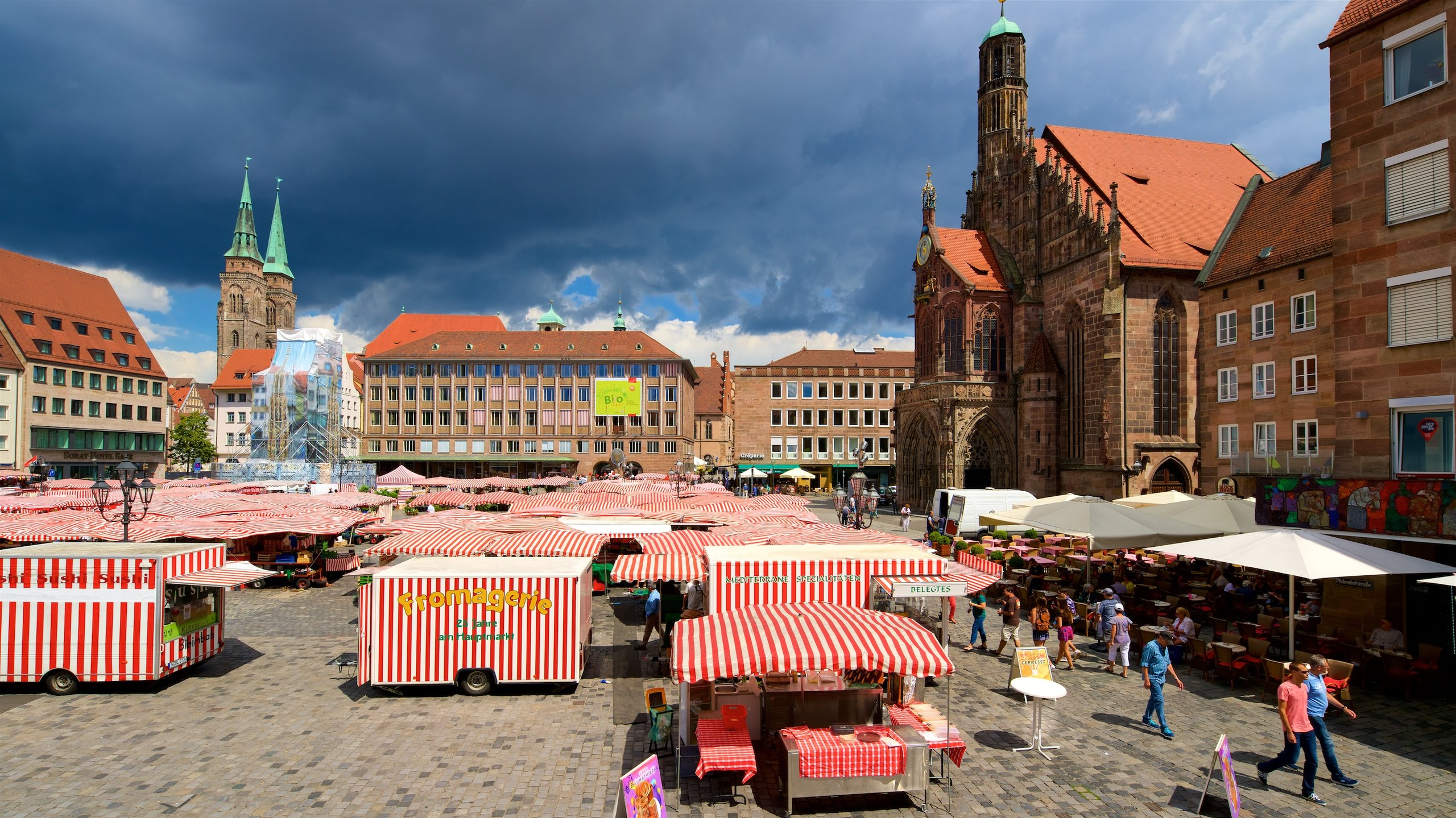 Discover the heart of Nuremberg when you visit the city's historic central square, which is used regularly as a marketplace to this day.