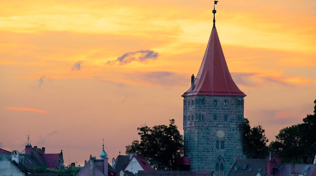 Nuremberg featuring heritage elements and a sunset