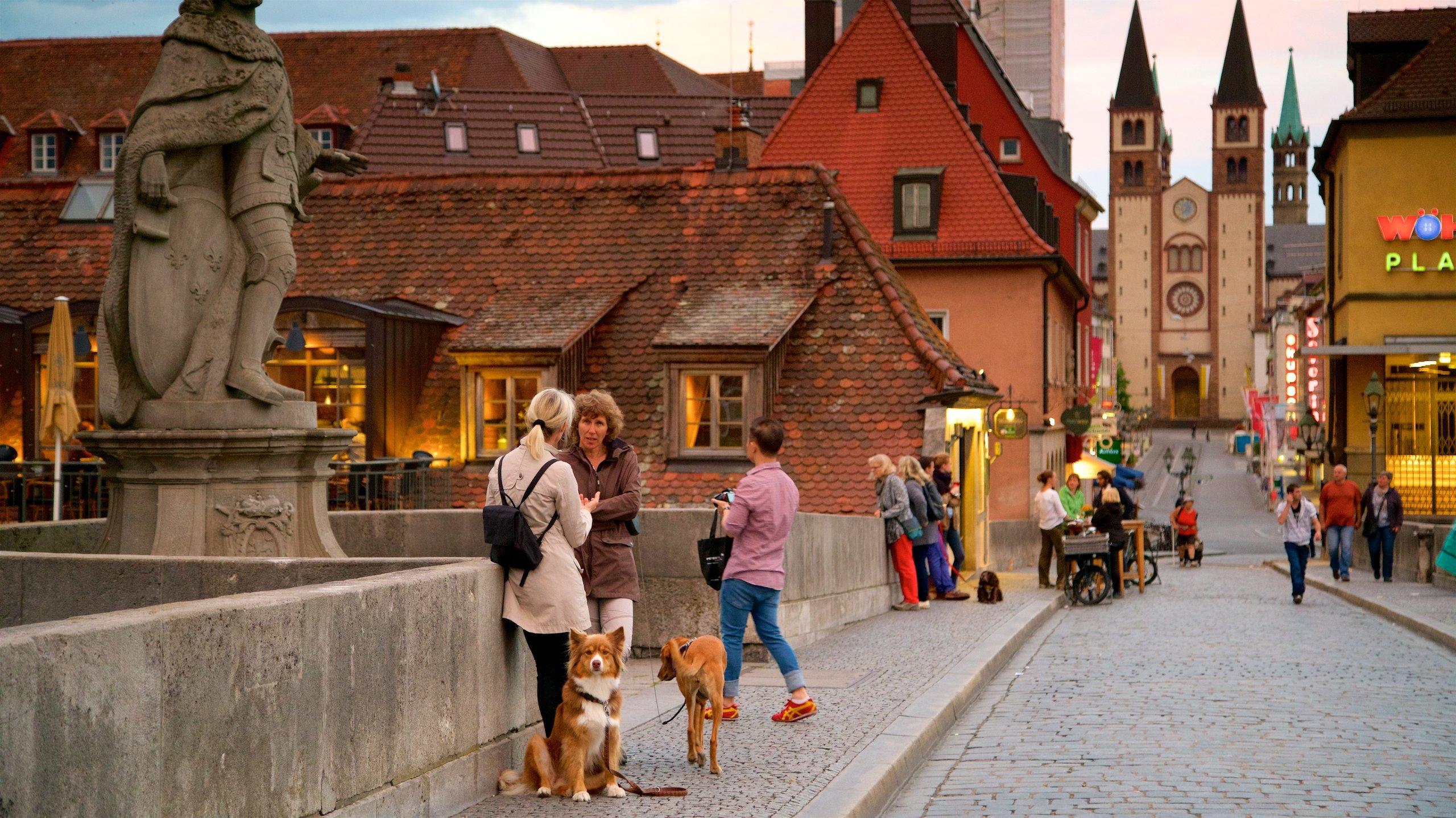 Alte Mainbrücke, Würzburg, Bayern, Deutschland