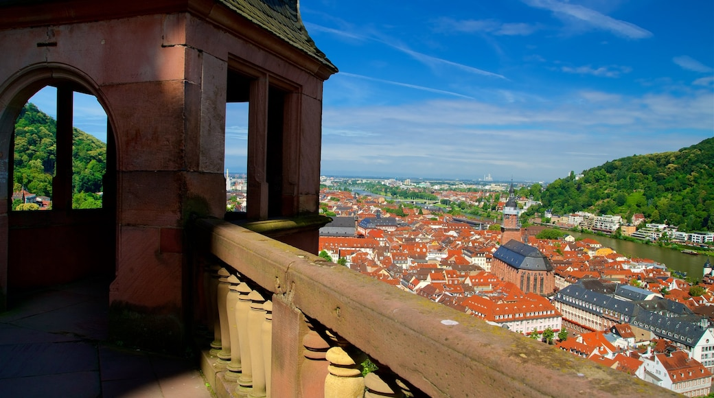 Heidelberg Castle featuring heritage elements, views and a city