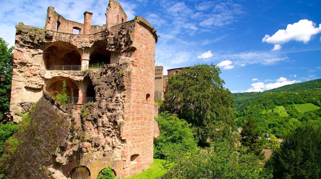 Heidelberger Schloss mit einem ruhige Szenerie und Ruine