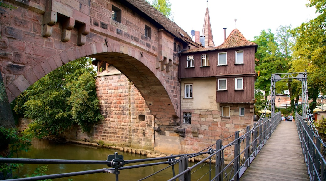 Nuremberg featuring a bridge, heritage elements and a river or creek