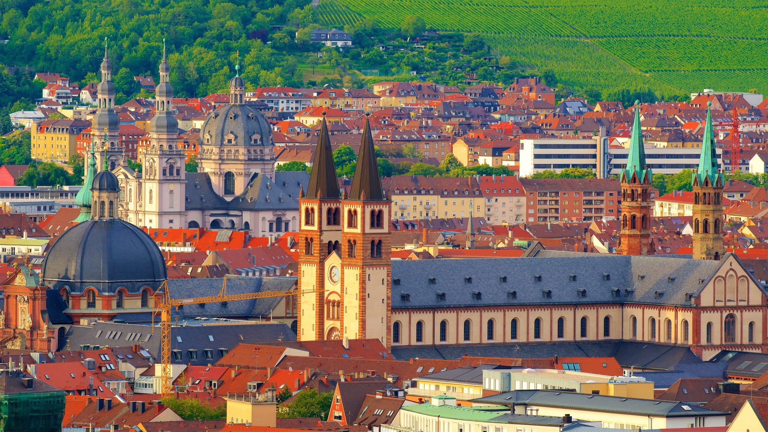 Stadtzentrum von Würzburg, Würzburg, Bayern, Deutschland