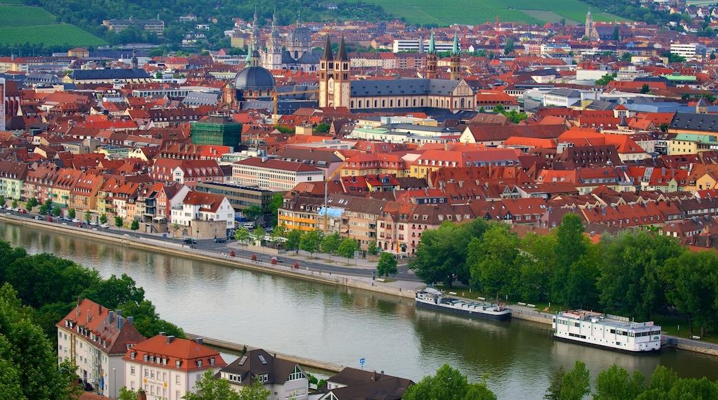 Würzburg presenterar landskap, en stad och historiska element