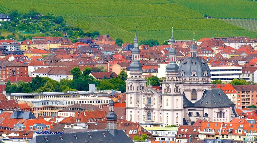 Würzburg som visar historiska element och en stad
