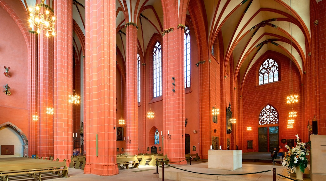 Frankfurt Cathedral showing heritage elements, a church or cathedral and interior views
