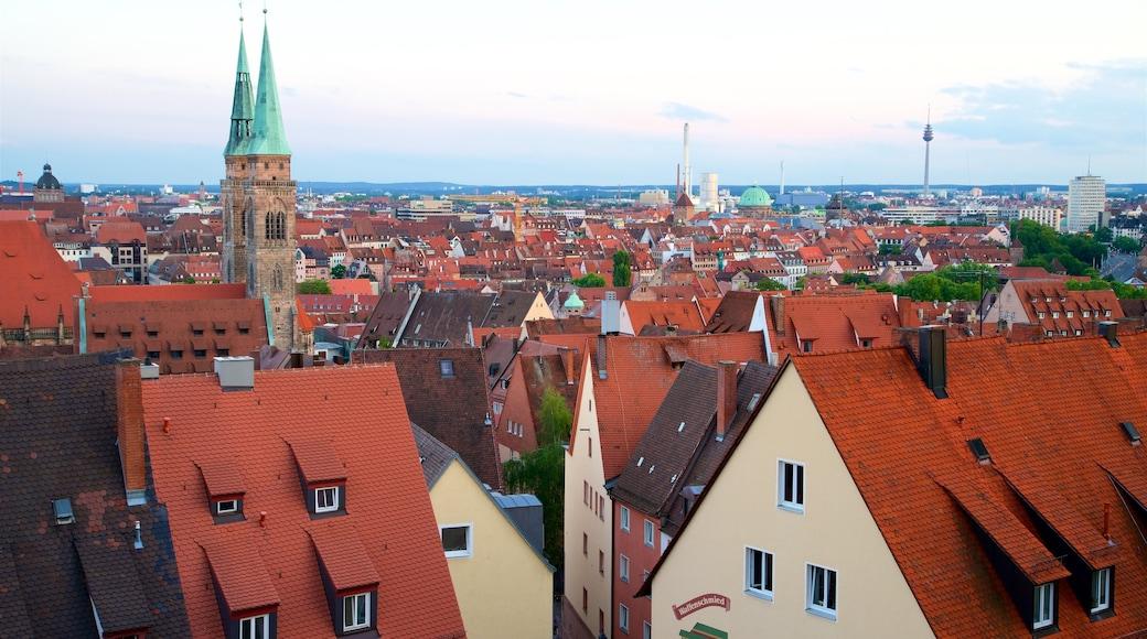 Nürnbergin linna featuring perintökohteet ja kaupunki