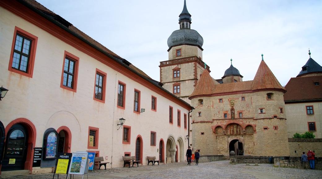 Marienberg-fästningen presenterar historiska element