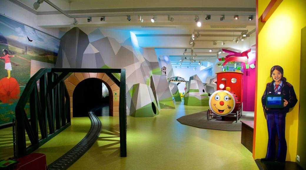 German National Railway Museum showing interior views