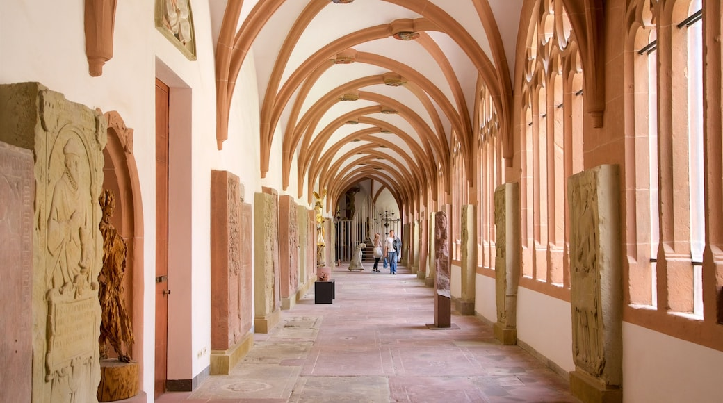 Würzburger Dom som inkluderar interiörer och historiska element