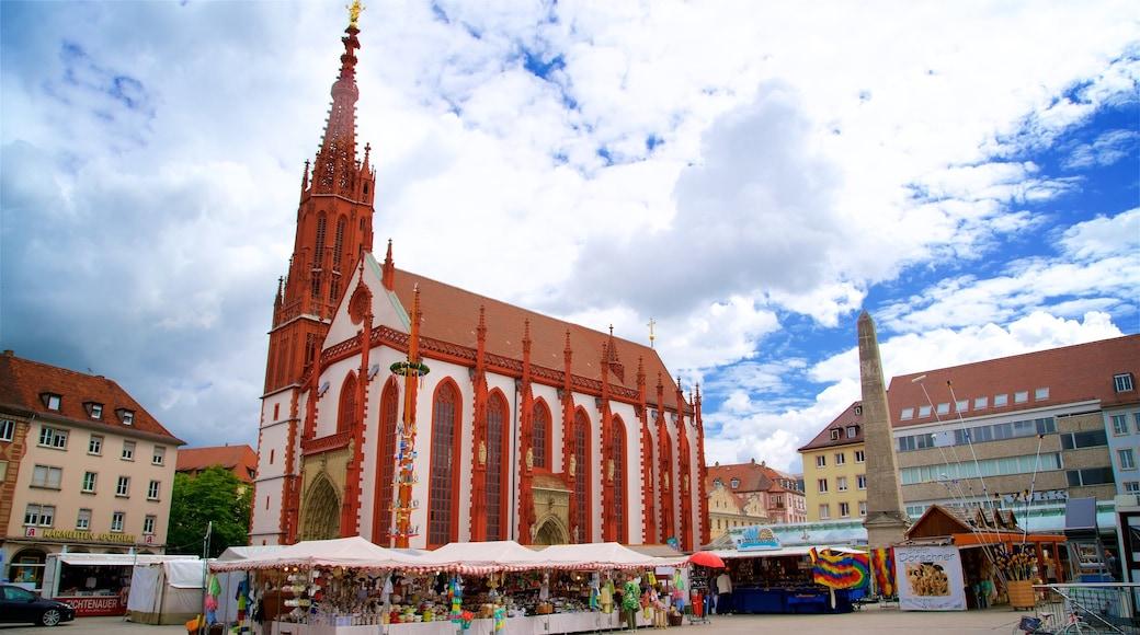 Marienkapelle som visar ett torg, en kyrka eller katedral och marknader