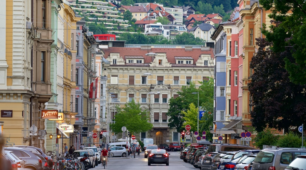Innsbruck which includes heritage elements
