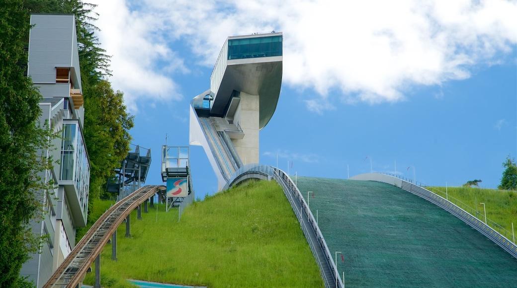 Bergisel Ski Jump showing modern architecture