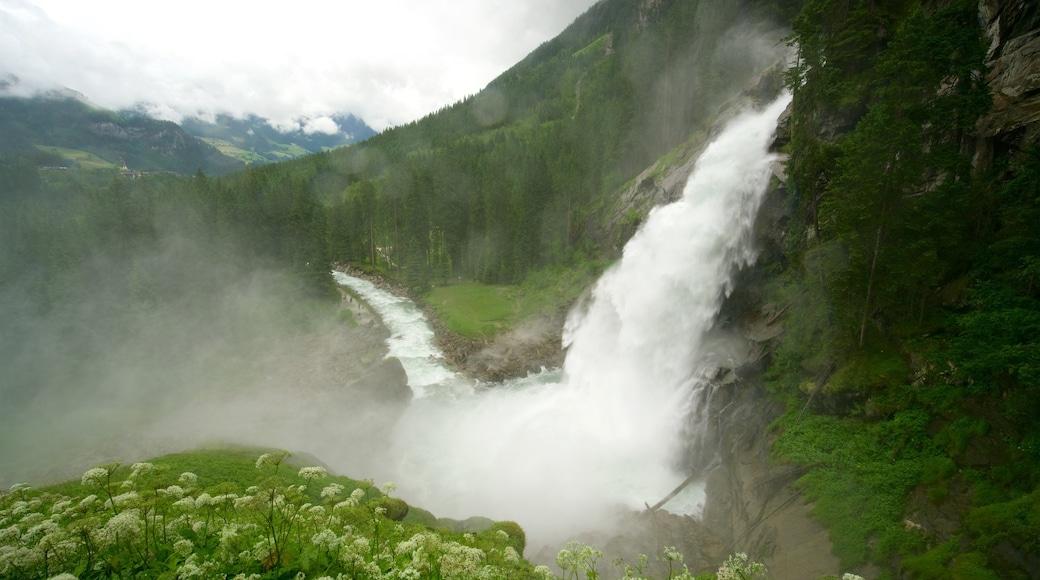 Krimmler Wasserfälle welches beinhaltet ruhige Szenerie, Kaskade und Stromschnellen