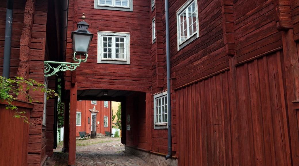 Linköping presenterar en liten stad eller by och gatuliv