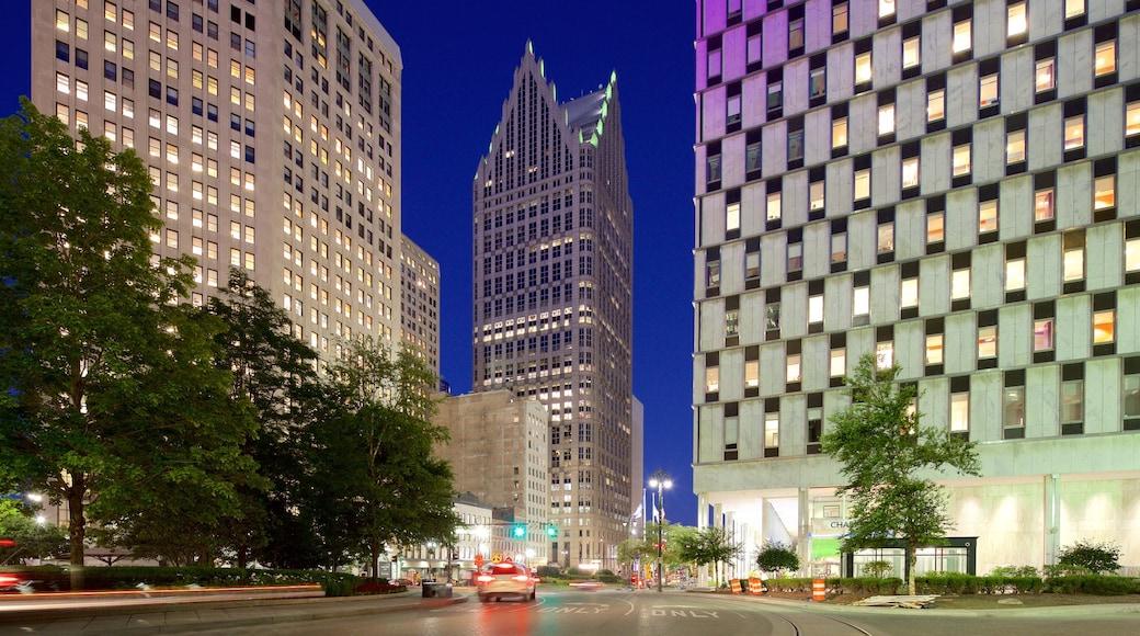 底特律 其中包括 城市 和 夜景