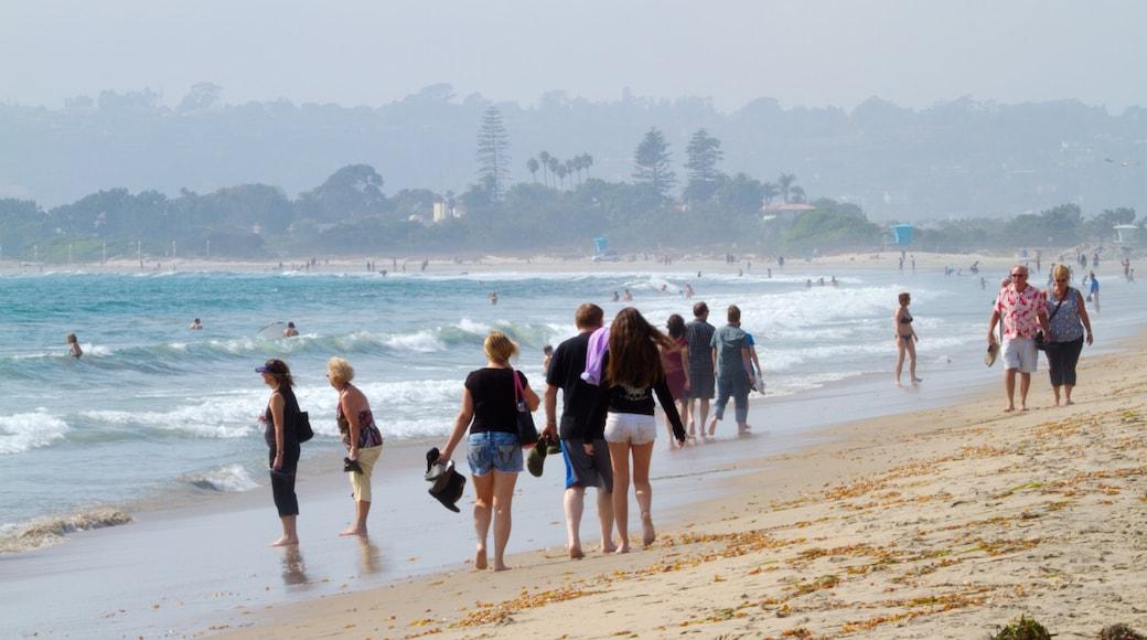 Coronado Beach which includes landscape views, a sandy beach and swimming