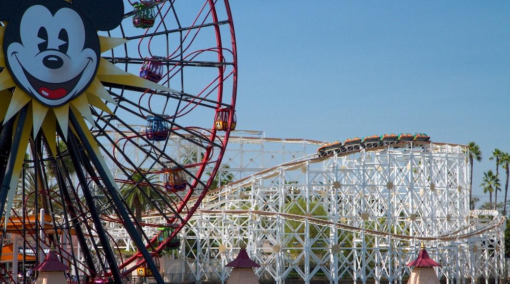 Disney California Adventure® Park showing rides