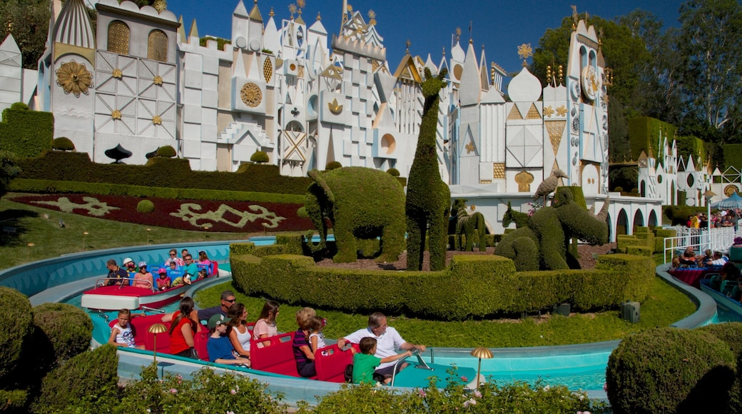Disneyland® Park showing rides and a water park as well as children
