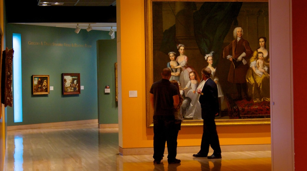 Denver Art Museum which includes interior views and art as well as a small group of people