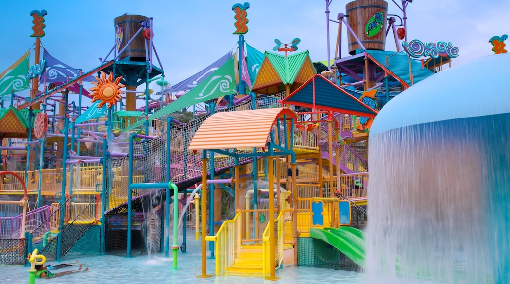 Aquatica featuring rides and a waterpark